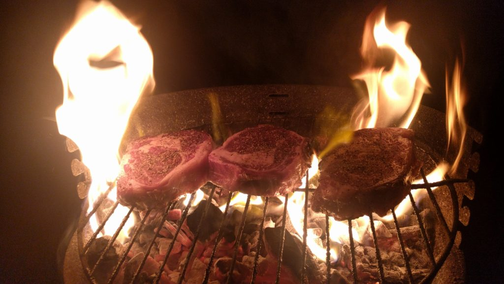 3 Ribyes on Grill | Steak Club